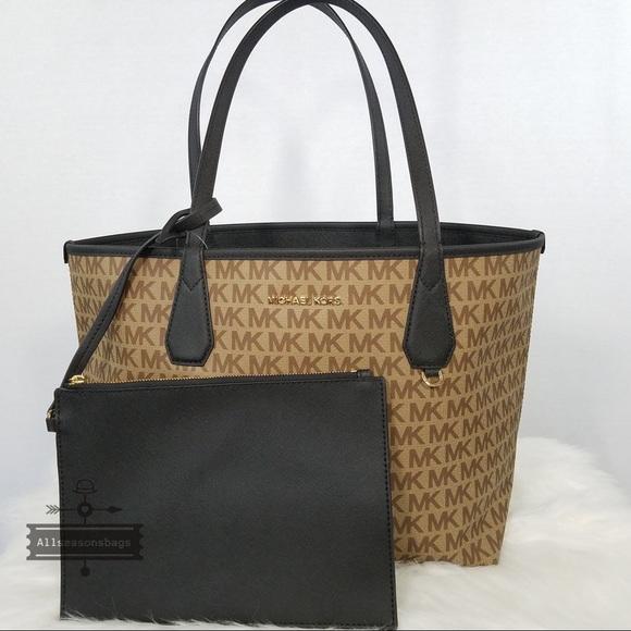 714d940ed76f Michael Kors Bags | Candy Large Reversible Tote Black Brn | Poshmark